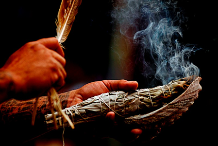 smudge is used for clearing or blessing or both