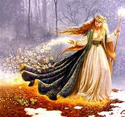 The Goddess of Spring seeds the land at Imbolc