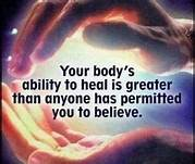 you have great self-healing ability