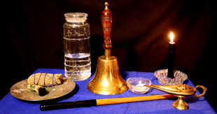 essential altar for clearing and blessing